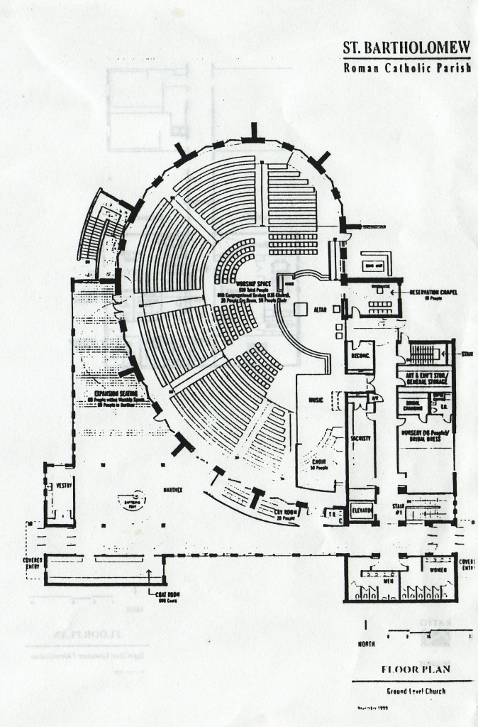 Week 41 st bartholomew catholic church 52 weeks of for Floor plan church